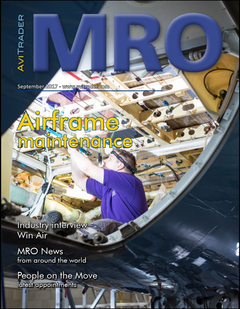 AviTrader MRO Magazine - September 2017 - featuring interview with Kyle Vergeer, Commercial Manager, WinAir