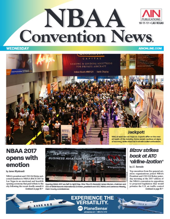 NBAA Convention News - Day 2 - Wednesday Edition - October 11th 2017