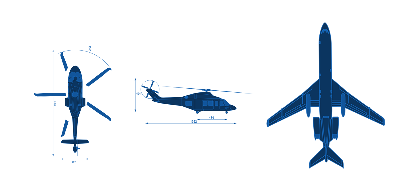 fixed-wing and rotary-wing blueprints