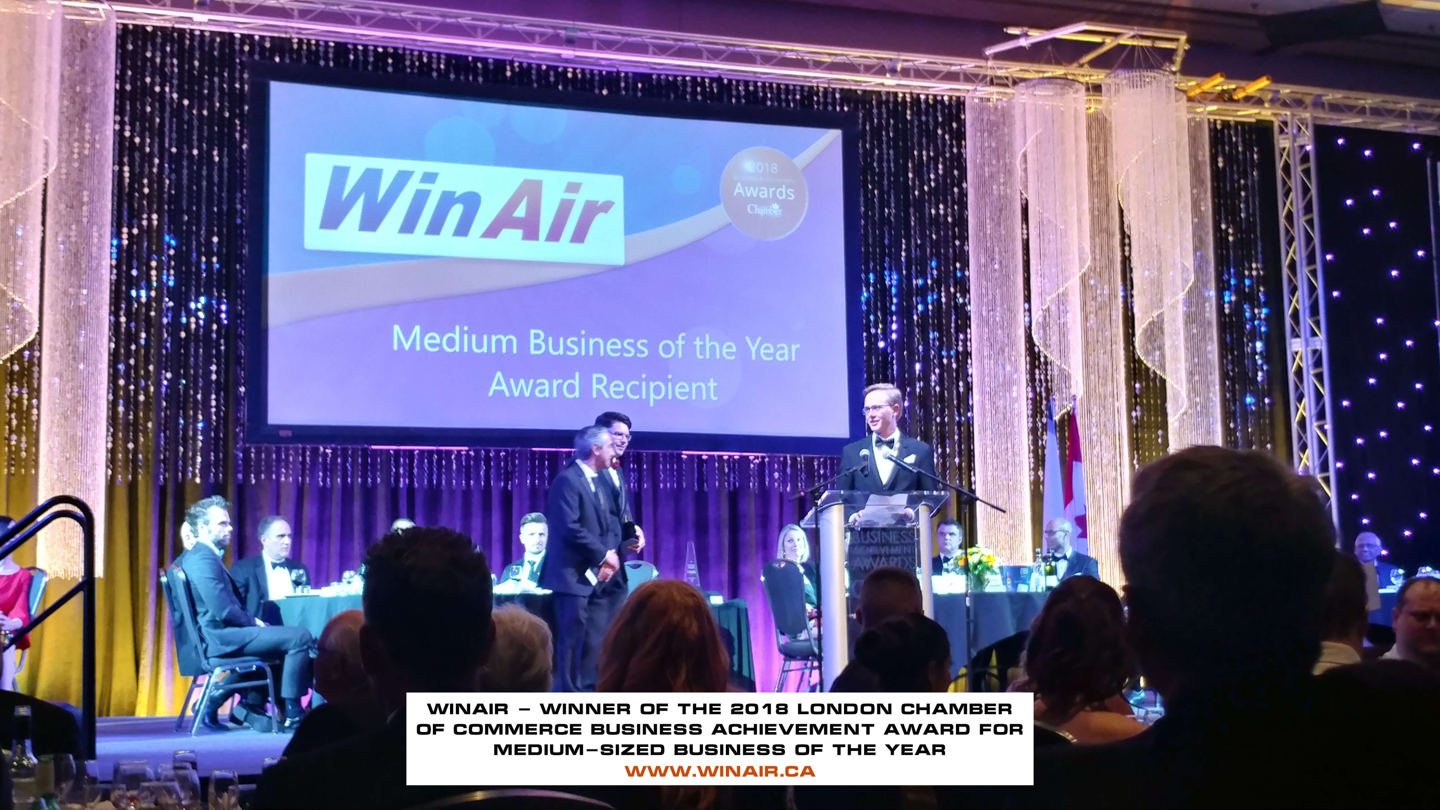WinAir - Winner of the 2018 London Chamber of Commerce Business Achievement Award for medium-sized Business of the Year