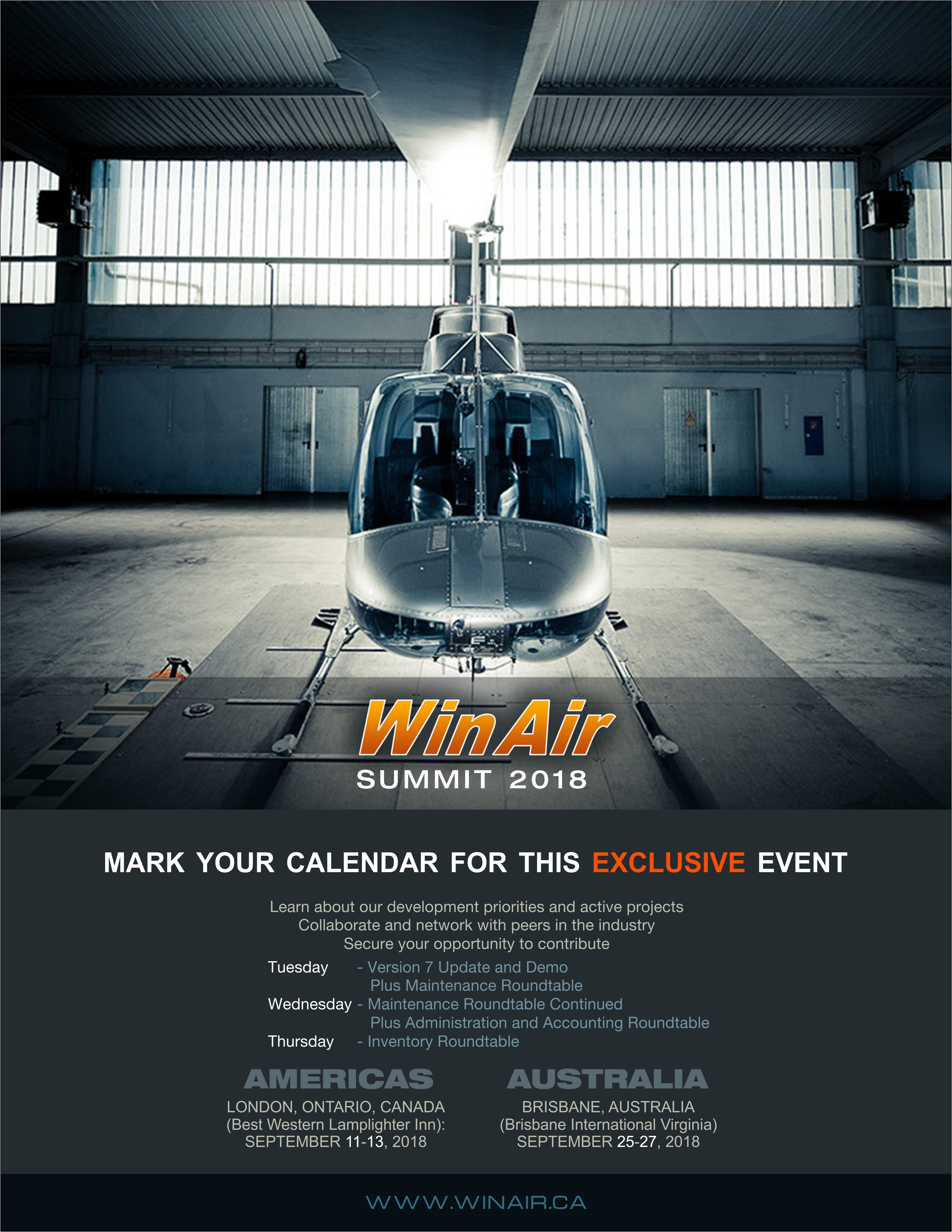 WinAir 2018 User Summit Promotional Image