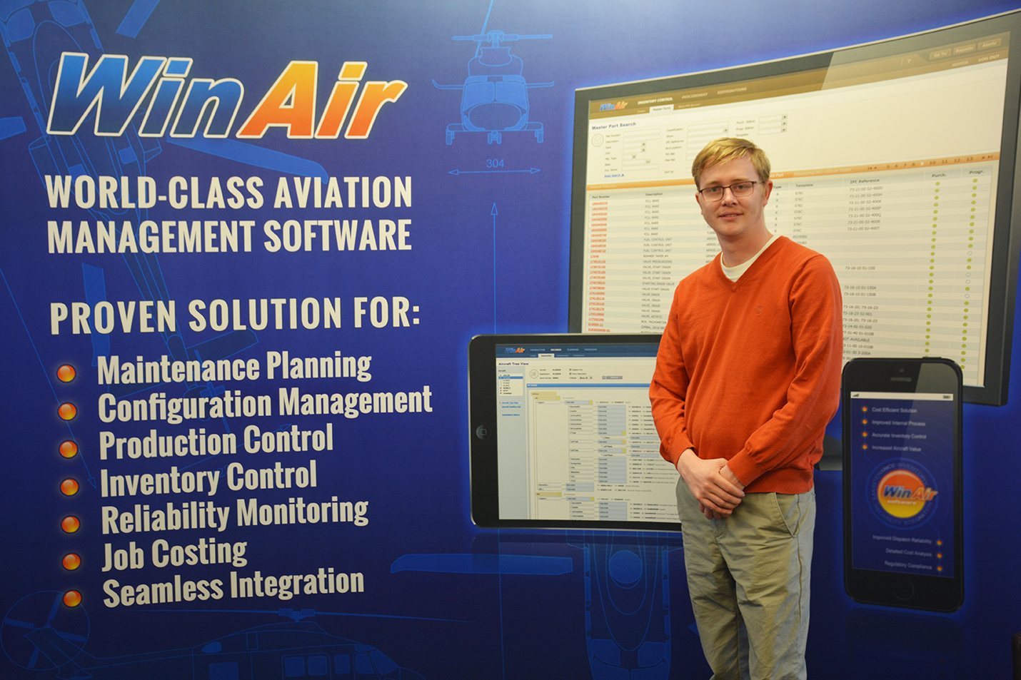 WinAir Commercial Manager Kyle Vergeer - fixed-wing image with text