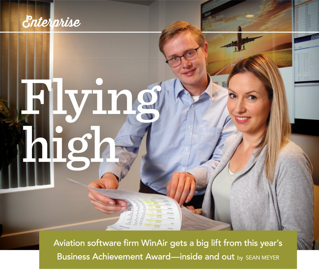 London Inc. Magazine - Enterprise Column featuring WinAir - Aviation Management Software
