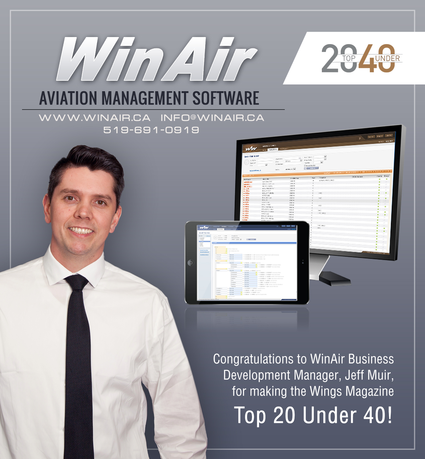 WinAir Business Development Manager Jeff Muir