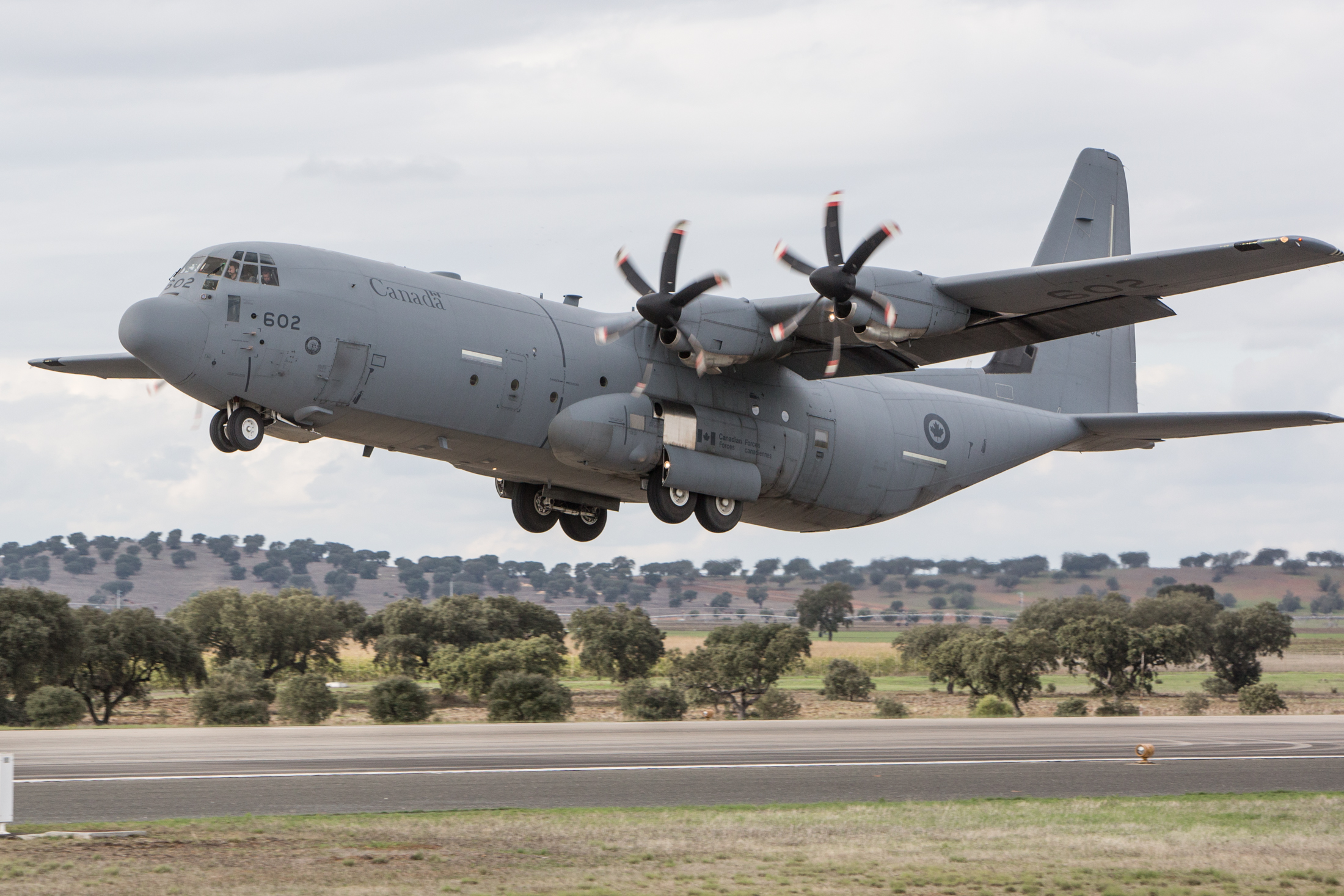 A Canadian Air Force Lockheed C-130 Hercules Aircraft