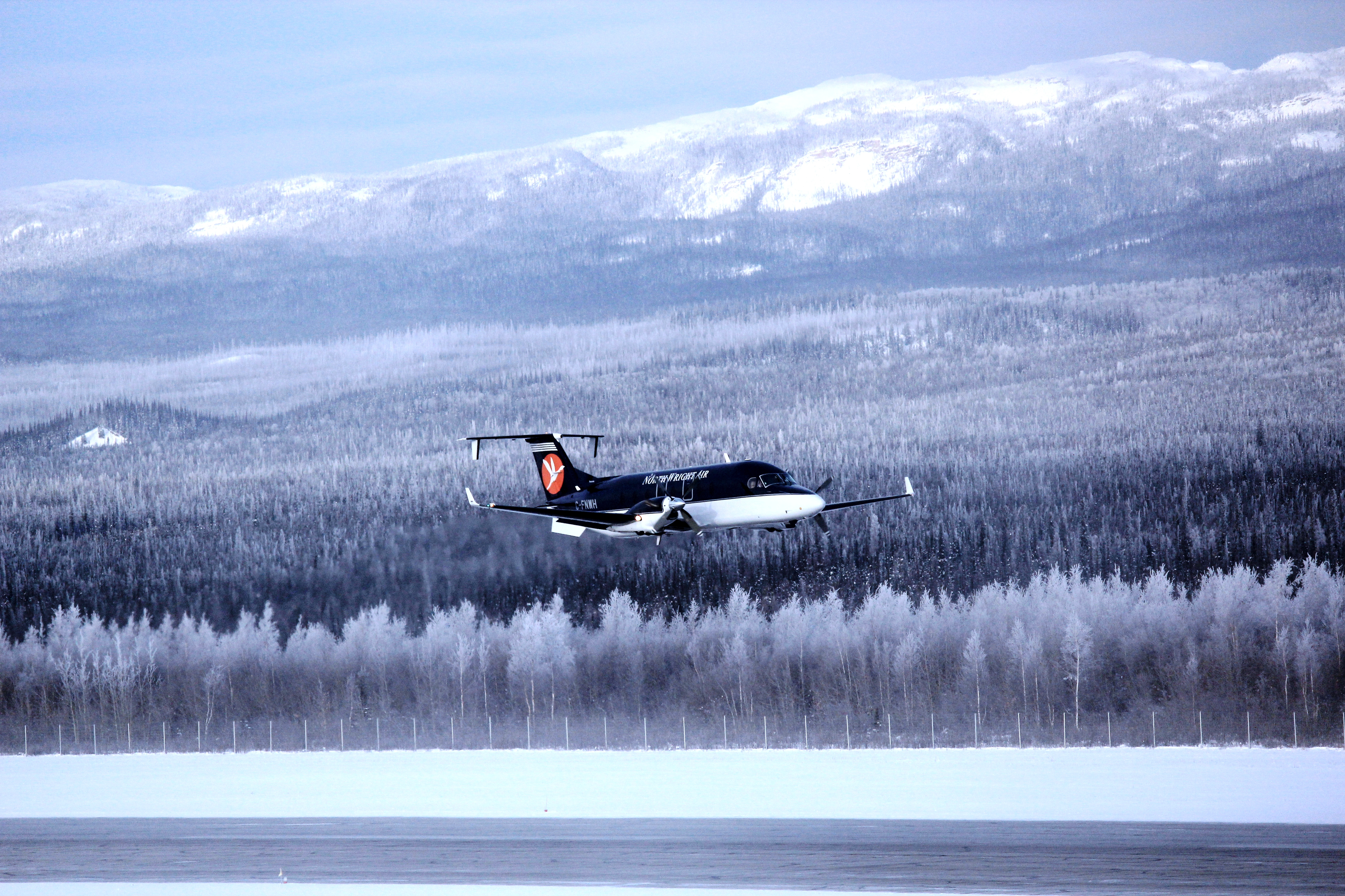 North-Wright Airways - Beechcraft 1900D Aircraft Take-off from Norman Wells, NWT