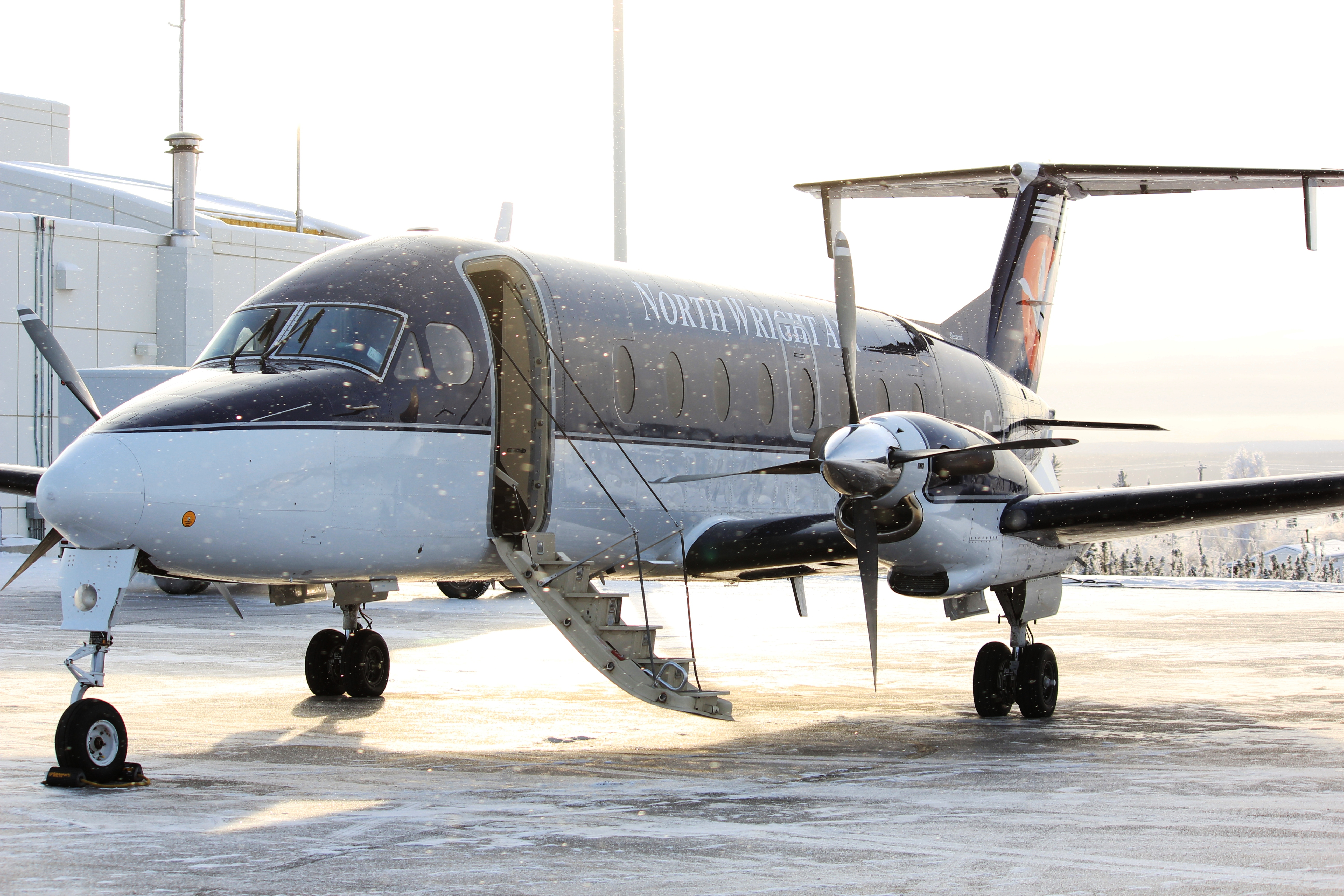 North-Wright Airways - Beechcraft 1900 on the runway at Norman Wells Airport in Norman Wells, Northwest Territories