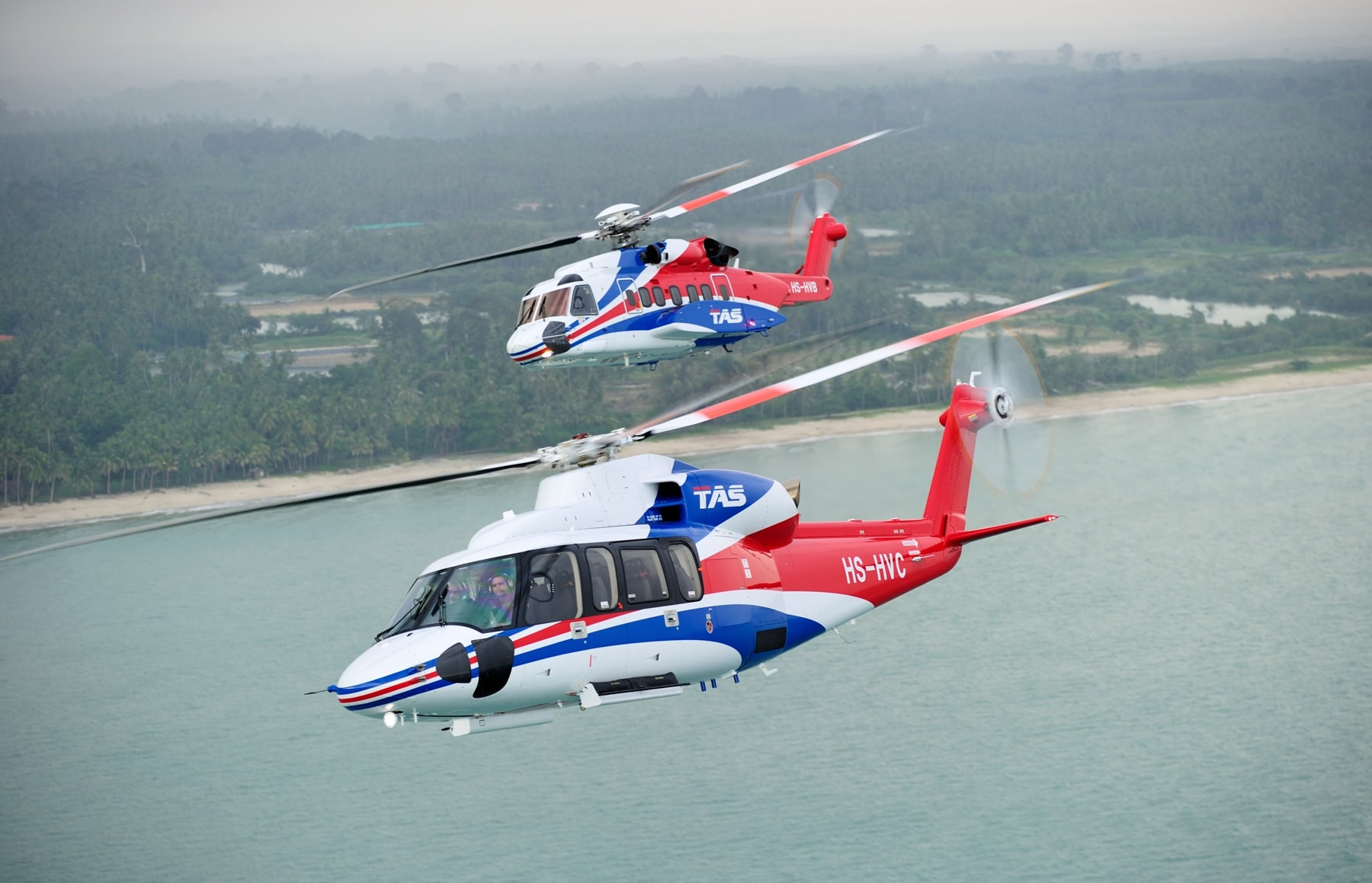 Thai Aviation Services - Sikorsky S-76D and S-92 - photo by Rawee Payomyol