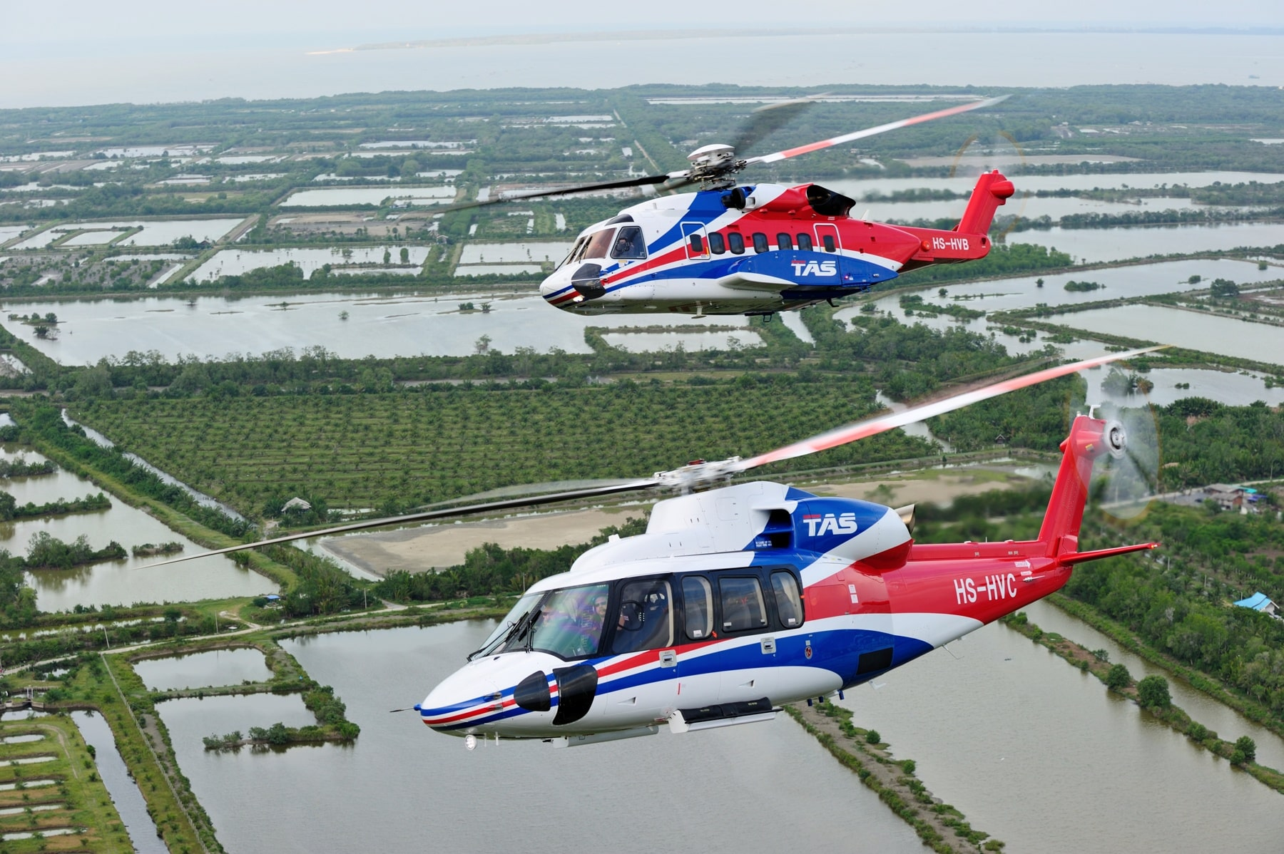 Thai Aviation Services - Sikorsky S-76D and S-92 - image by Rawee Payomyol