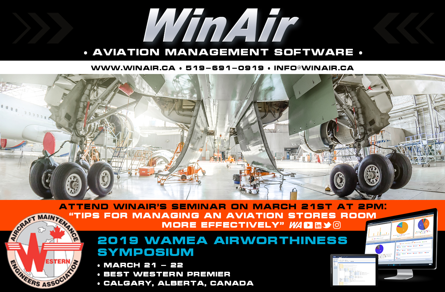 WinAir to Speak and Exhibit at Western AME Association (WAMEA) Airworthiness Symposium