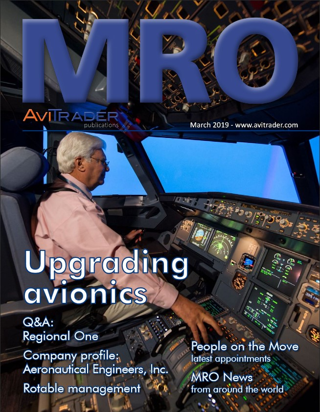 AviTrader MRO Magazine - March 2019 - Featuring article on MRO Invoicing in WinAir