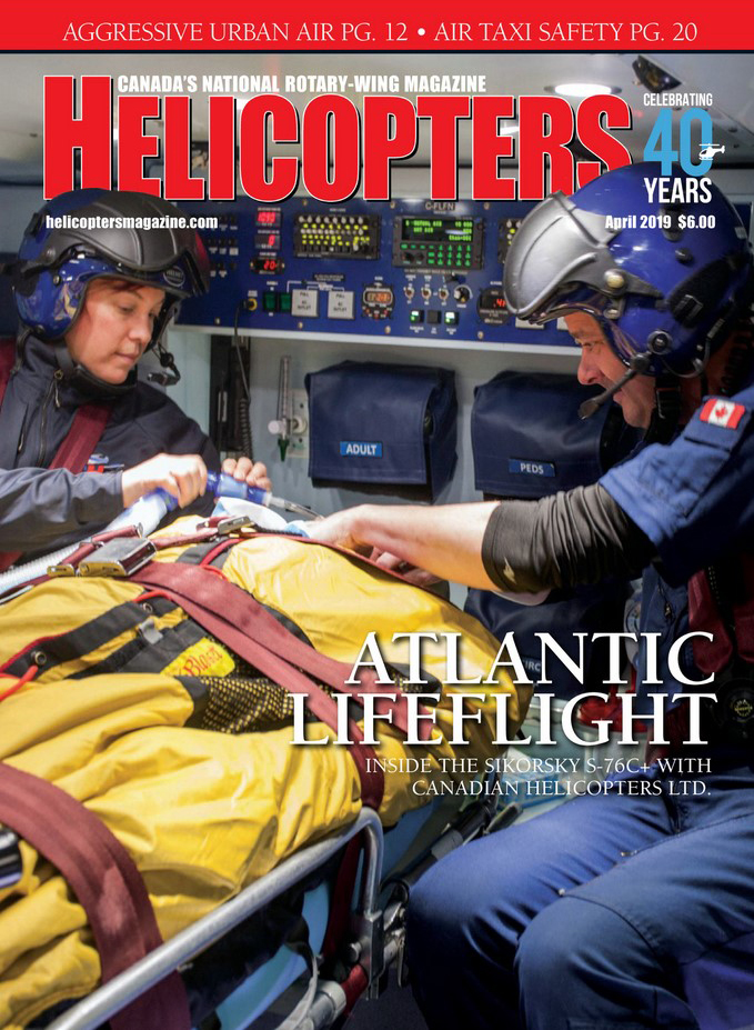 Helicopters Magazine - April 2019 - featuring WinAir's article on The Benefits of Barcoding in Aviation Management Software