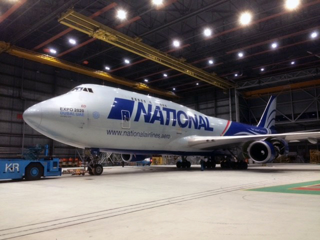National Airlines - Boeing 747 Aircraft in Hangar