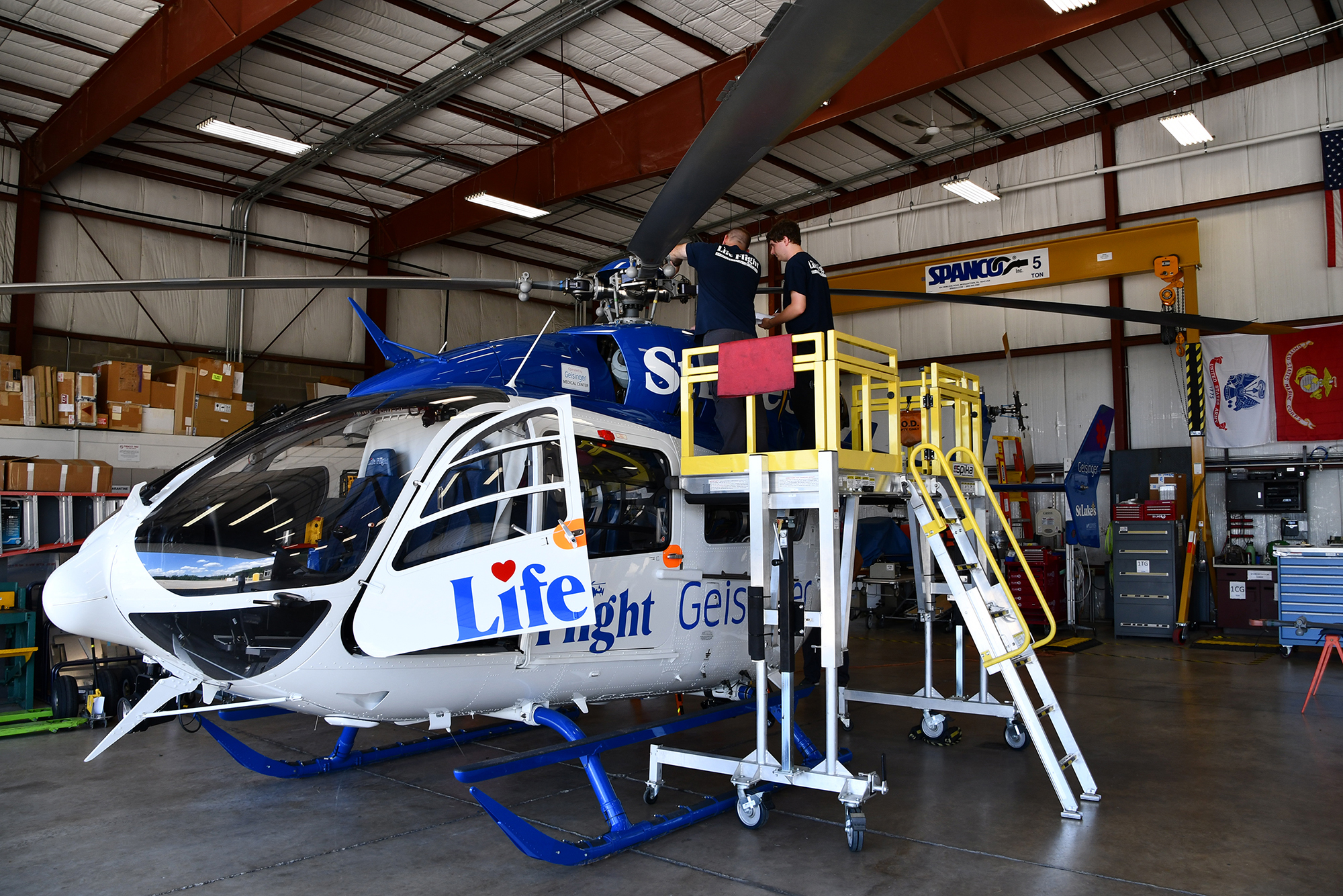 Geisinger Life Flight - Eurocopter EC145 Helicopter Maintenance