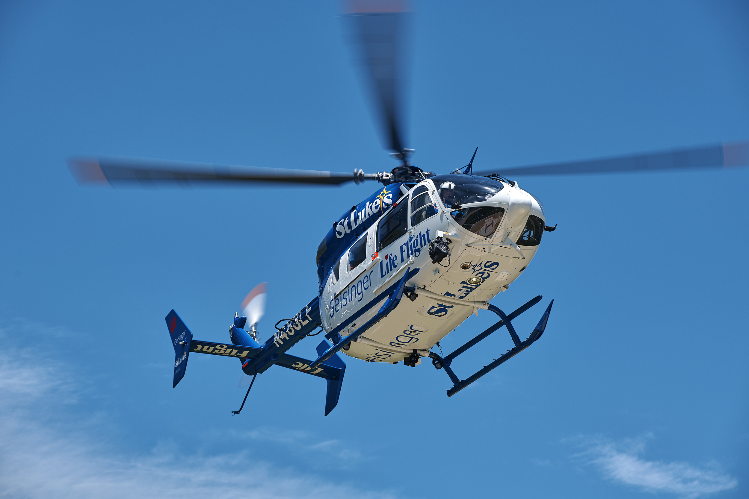 Geisinger Life Flight - Eurocopter EC145 Helicopter Preparing for Landing