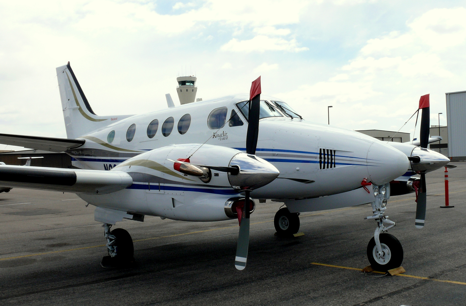 Beechcraft King Air C90 Aircraft At Centennial Airport in Dove Valley CDP, Colorado, USA on April 14th, 2008