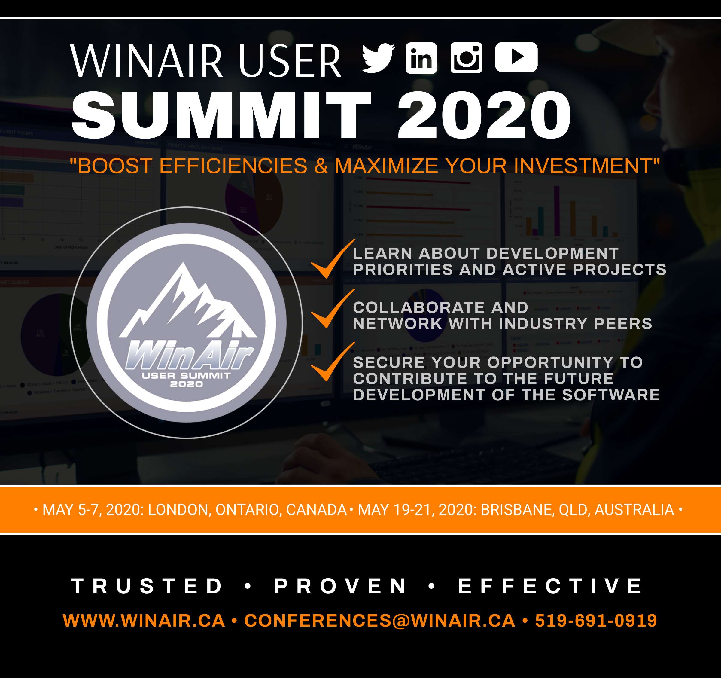 WinAir User Summit 2020 - Boost Efficiencies and Maximize Your Investment - Promotional Image