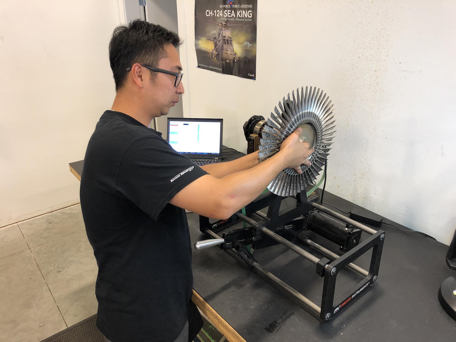 Turbine wheel weight balancing at Advance Aerospace